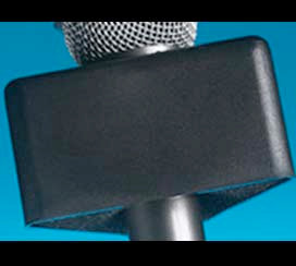 Mic Flag Black Triangle