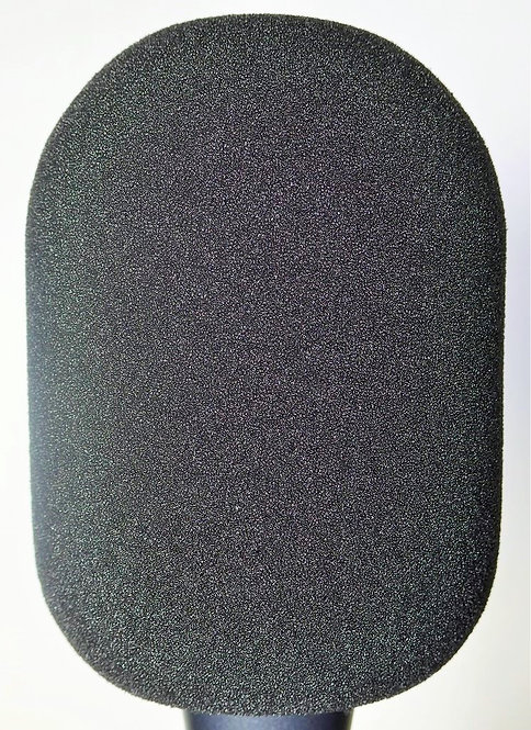 Black Plain Foam Windscreen