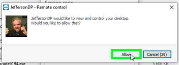 Teamviewer Step 4 Remote Control Request Window