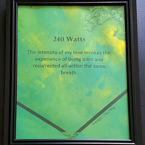 240 Watts Framed Poetry from book Blessings in Disguise