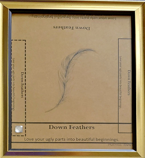 Down Feather Framed Poetry from Poetry Book Blessings in Disguise