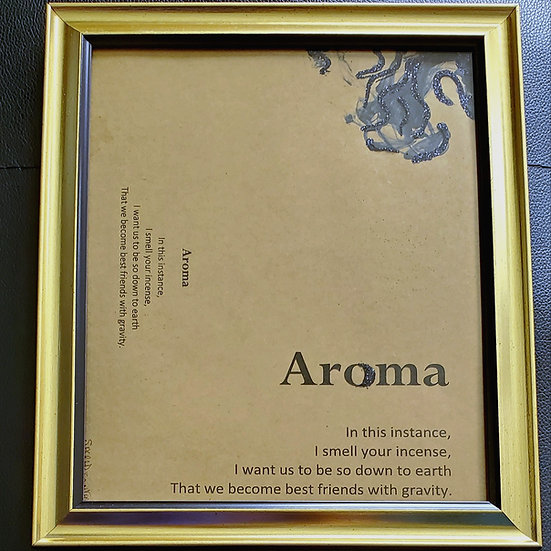 Aroma Framed Poetry from Poetry Book Blessings in Disguise