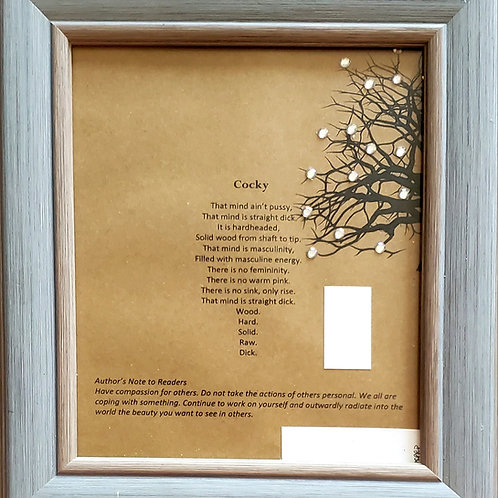 Cocky Framed Poetry from Poetry Book Blessings in Disguise