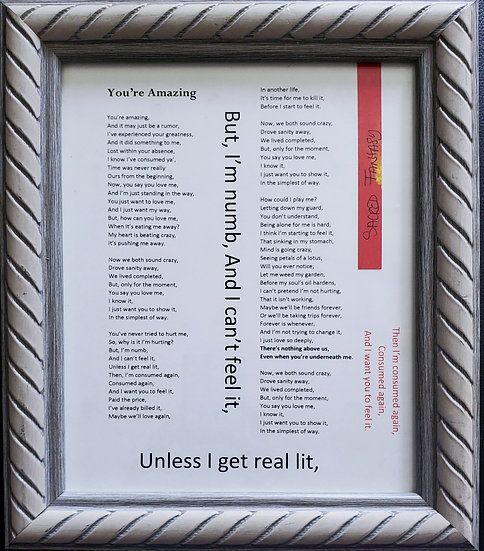 You're Amazing Framed Poetry from Book Blessing in Disguise