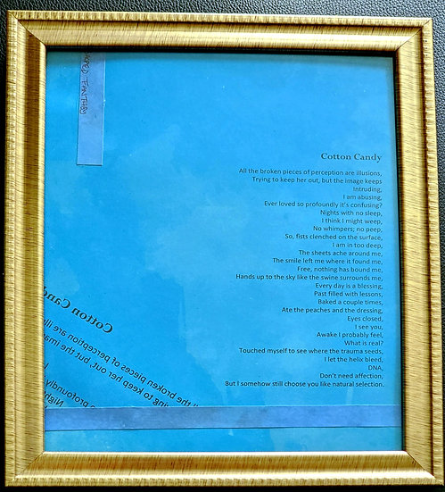 Cotton Candy Framed Poetry from Poetry Book Blessings in Disguise