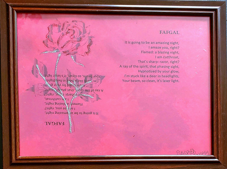 FAFGAL Framed Poetry from Poetry Book Blessings in Disguise