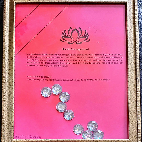 Floral Arrangement Framed Poetry from Poetry Book Blessings in Disguise