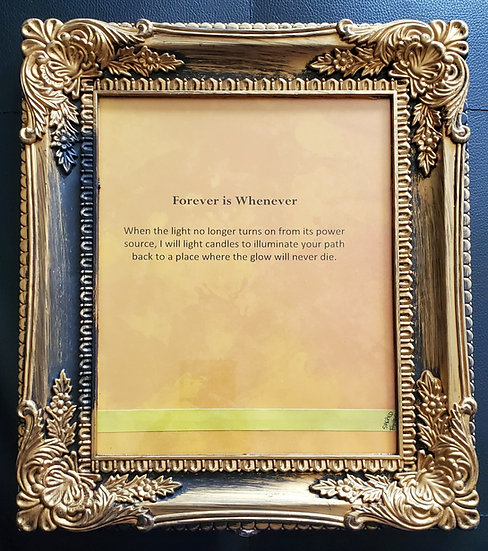Forever is Whenever Framed Poetry from Poetry Book Blessings in Disguise
