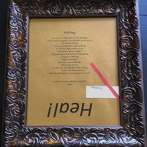 FEELing Framed Poetry from Poetry Book Blessings in Disguise