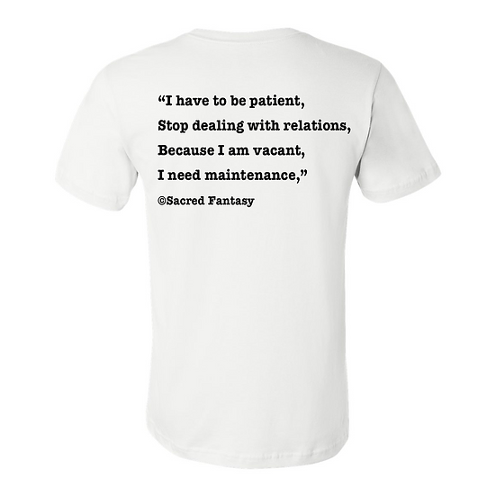 """I have to be patient..."" Tee"