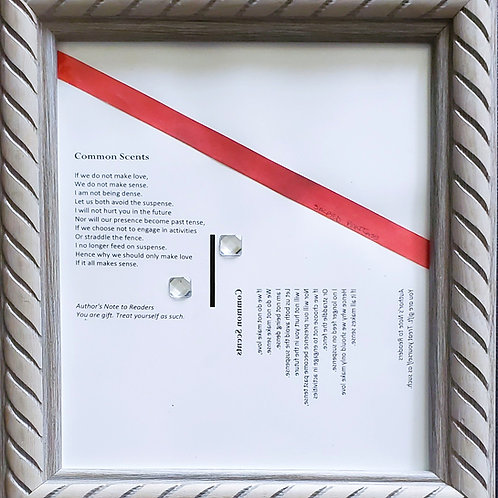 Common Scents Framed Poetry from Poetry Book Blessings in Disguise