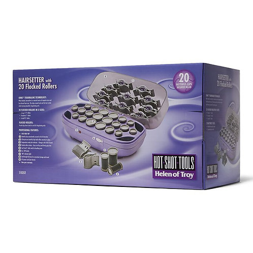Hot Tools Professional Hair Setter with 20 Flocked Rollers