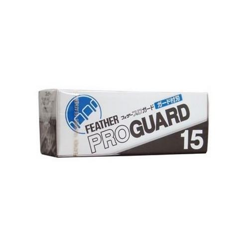 15 Feather Pro Guard Single-Edge Razor Blades