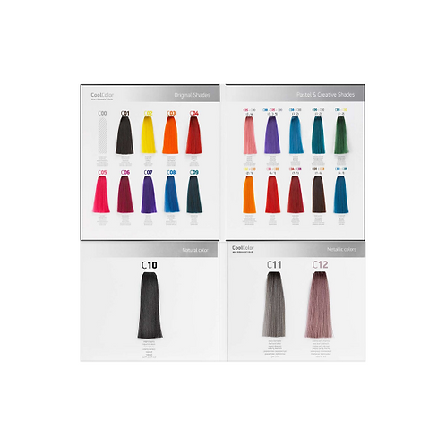 Erayba Cool Colors Color Chart