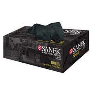 Sanek Nitrile Gloves Black 100 count