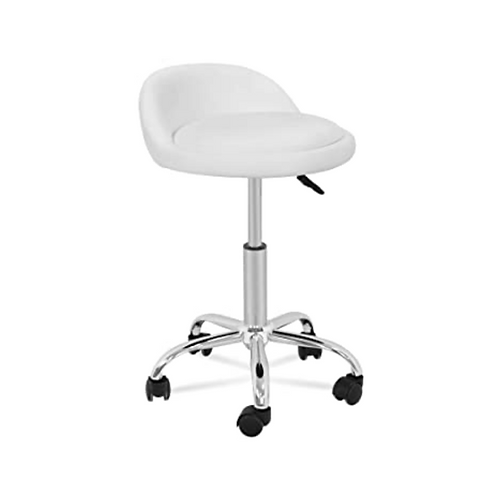 White Stool w/Small Back