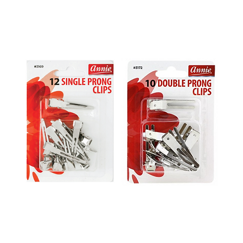 Annie Single or Double Prong Clips