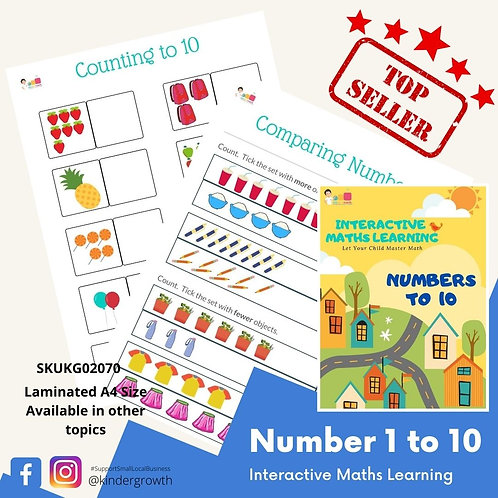 Interactive Maths - Numbers 1 to 10