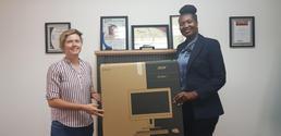 Sponsored Computer handover to Amedzo