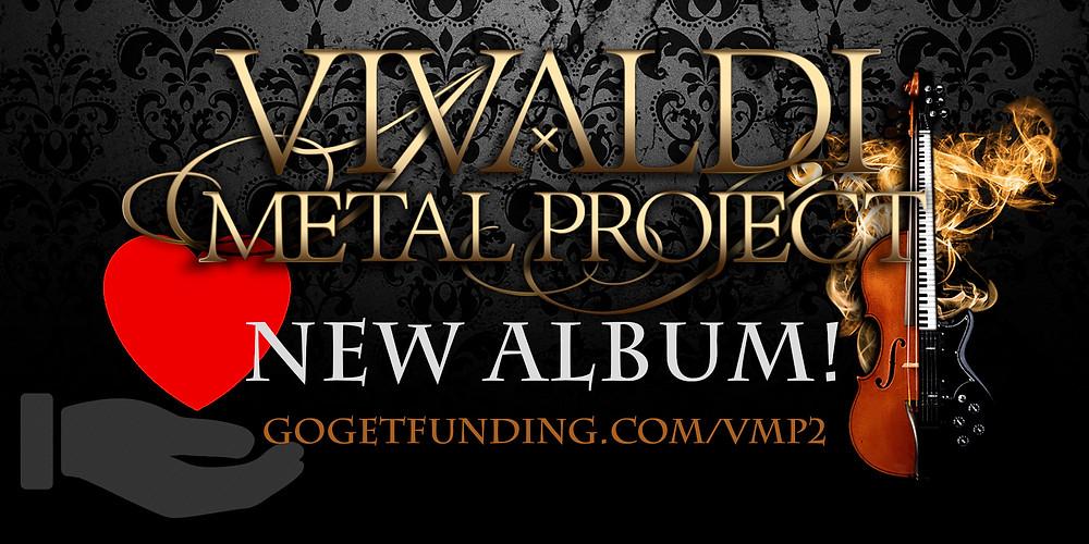 Vivaldi Metal Project new studio album crowd-funding campaign gogetfunding