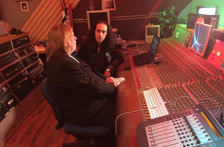 Mistheria and Rick Wakeman at Blue Train's studio