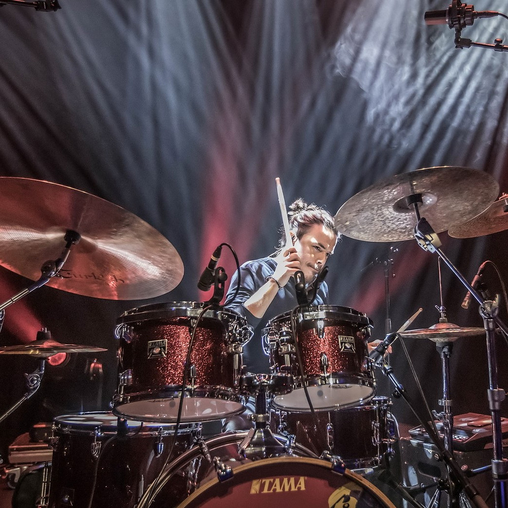Francesco Lucidi drummer Vivaldi Metal Project 2