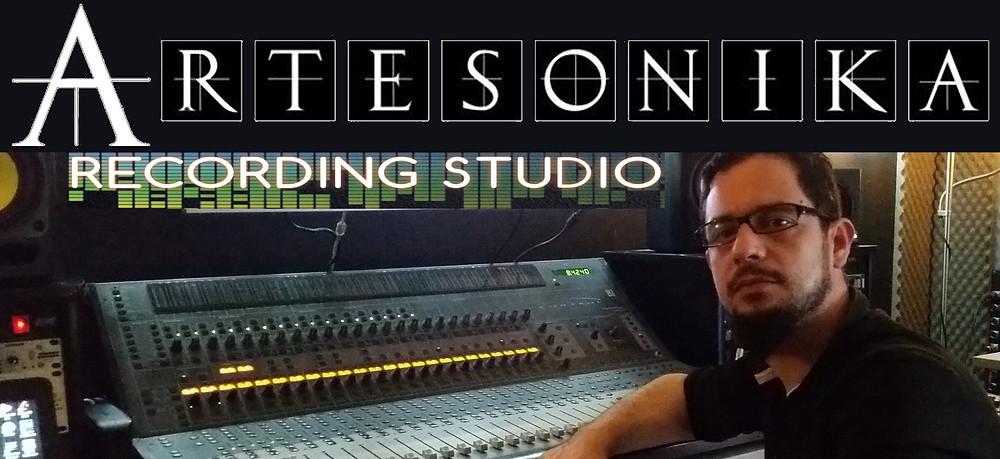 Ivan Moni Bidin at ARTESONIKA recording studio mixing Mistheria album GEMINI