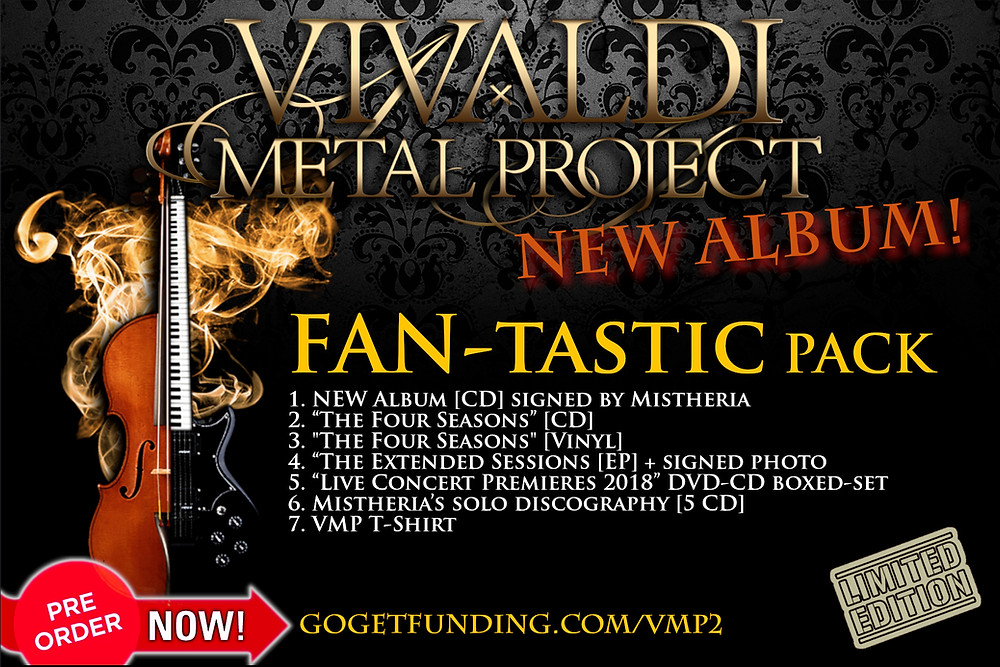 Vivaldi Metal Project 2nd album Fan-tastic Pack