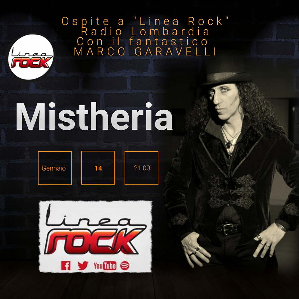 Linea Rock interview 14-01-2021 Mistheria interview at Linea Rock on Radio Lombardia with Marco Garavelli