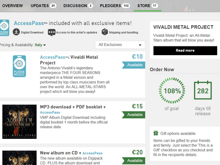 Vivaldi Metal Project: Exclusives Price Reduced!