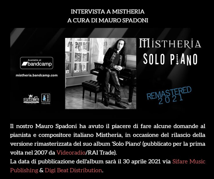 Insane Voices Labyrinth interview with Mistheria by Mauro Spadoni 2021