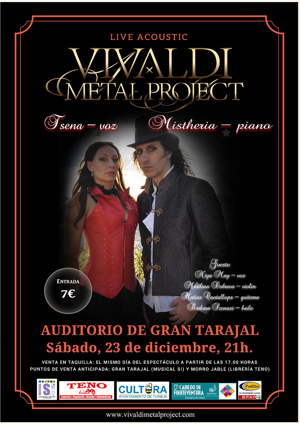 Vivaldi Metal Project live in Gran Tarajal