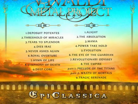 Vivaldi Metal Project's New Album 'EpiClassica' Track-List Announced!