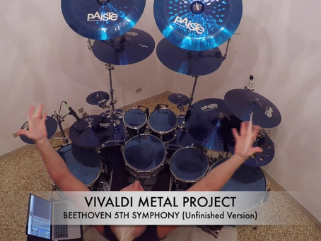 Drummer Mike Terrana records on Beethoven's 5th Symphony for our new album