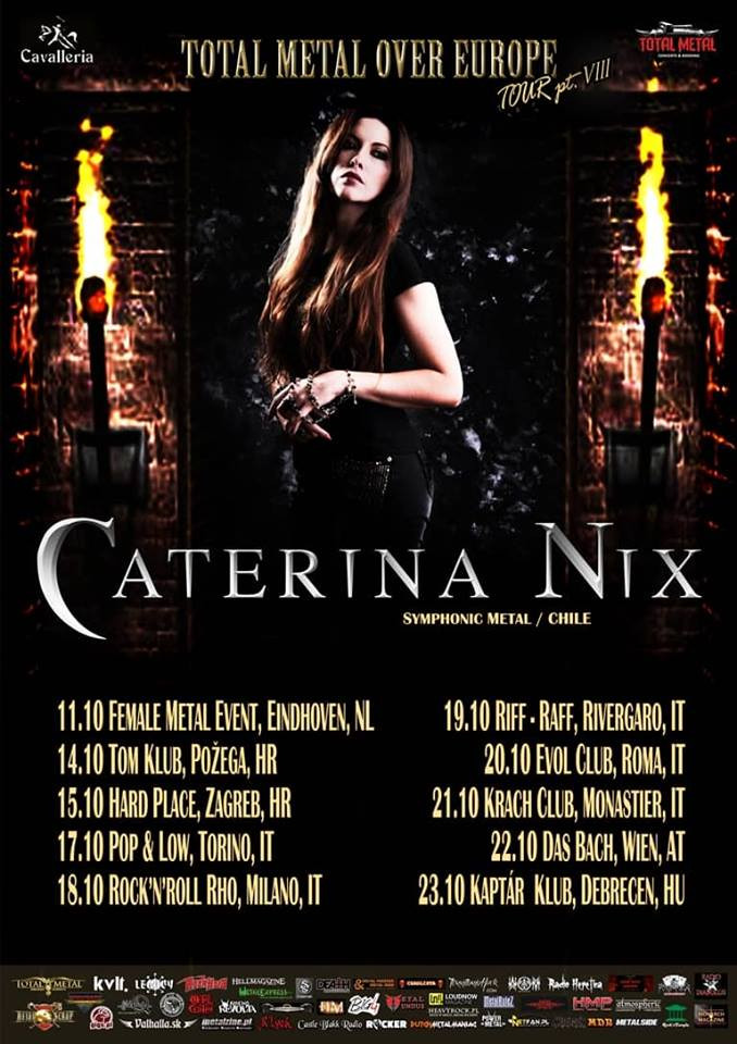 Caterina Nix European tour 2018 featuring Mistheria