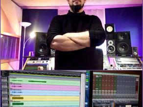 Sound engineer Ivan Moni Bidin mixing at Artesonika Recording Studio (Italy)