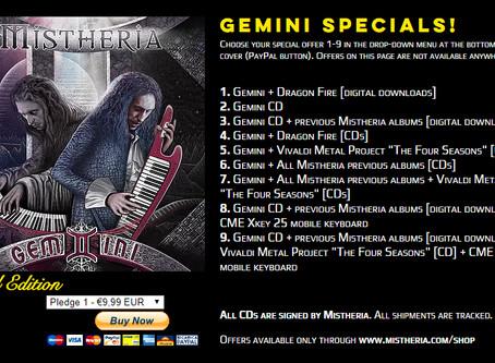 GEMINI album special offers on Mistheria webshop