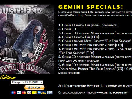 GEMINI album special offers on Mistheria webshop