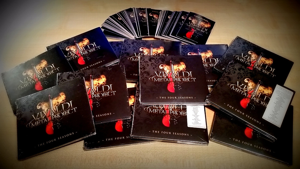 Vivaldi Metal Project signed by Mistheria digipack CD