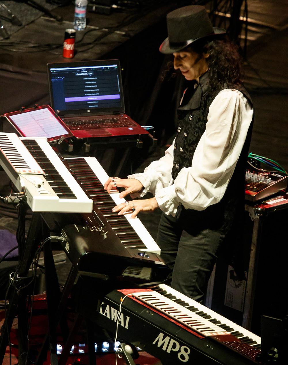 Mistheria live on keyboards in Plovdiv, Bulgaria