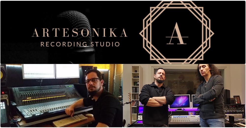 Artesonika Recording Studio Vivaldi Metal Project 2 mixing session