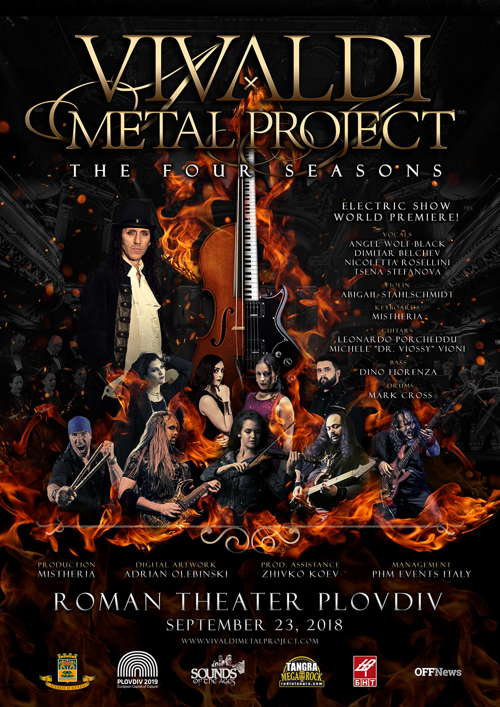 Vivaldi Metal Project THE FOUR SEASONS Electric Show Plovdiv 2018