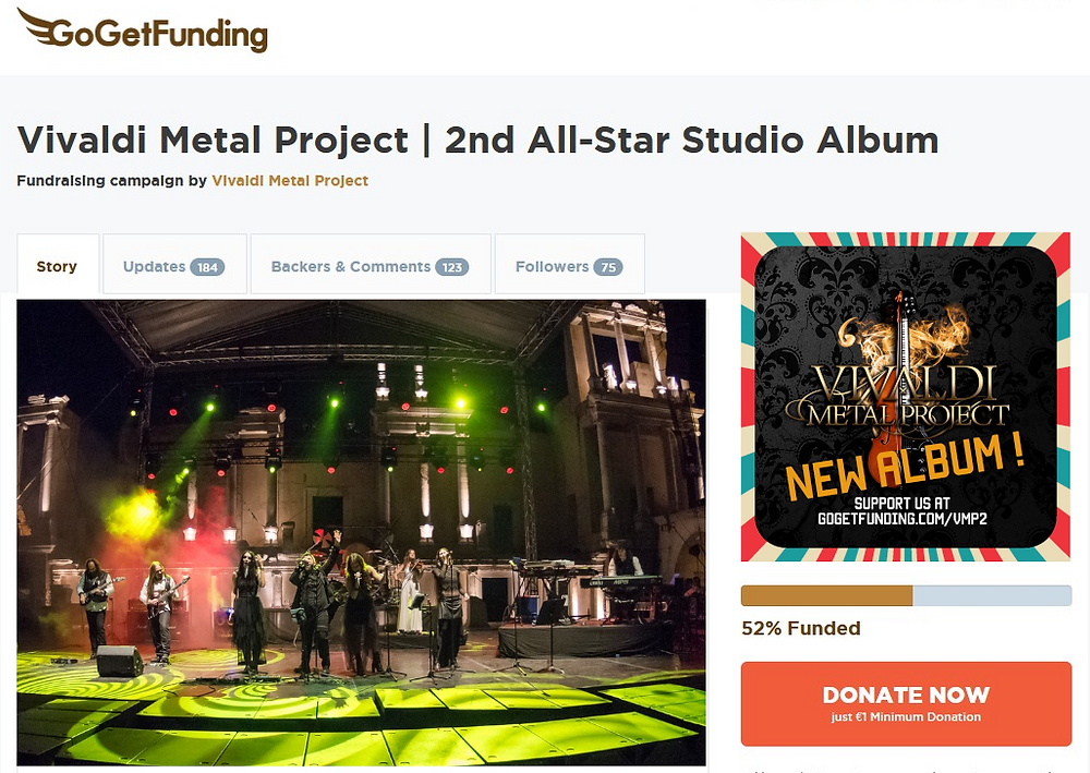 Vivaldi Metal Project GoGetFunding campaign update March 2021.png
