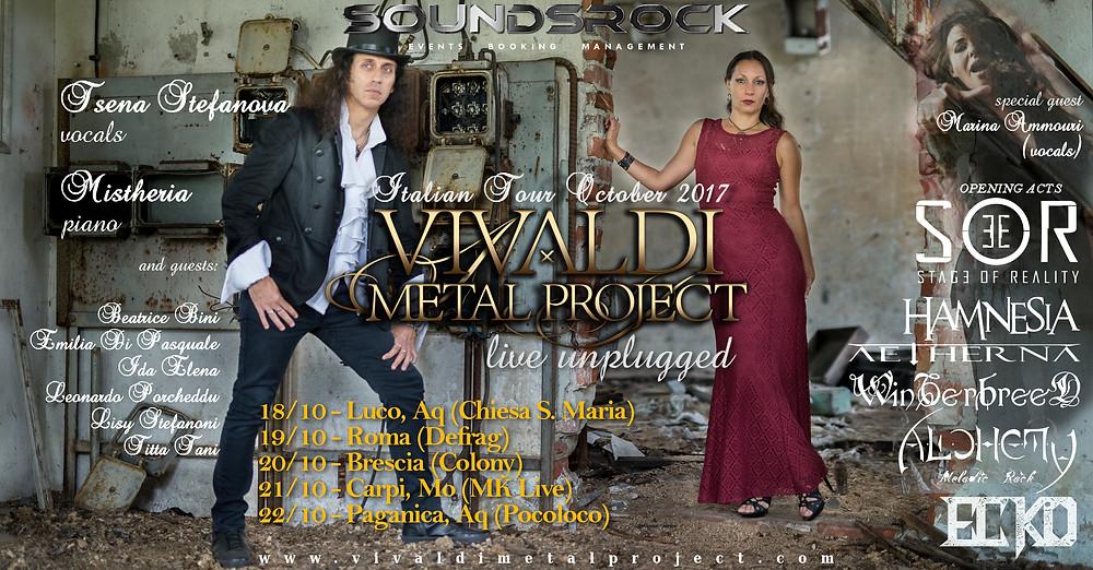 Vivaldi Metal Project - Unplugged Italian Live Tour 2017