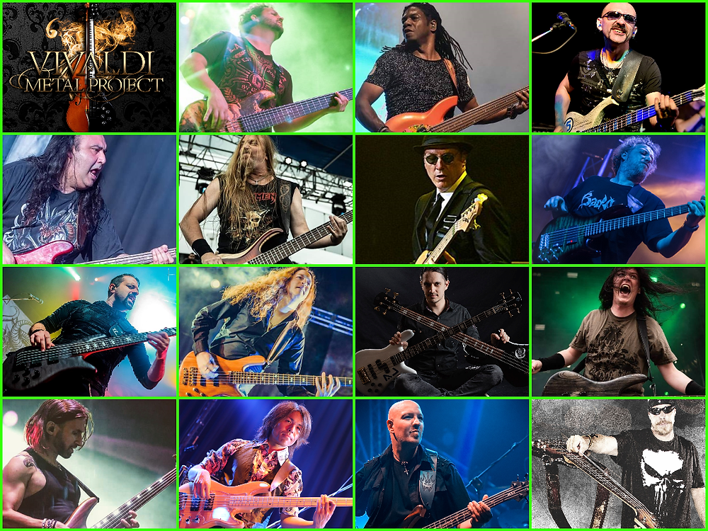 Vivaldi Metal Project 2 featured bassists