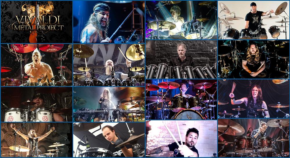 Vivaldi Metal Project 2 featured drummers