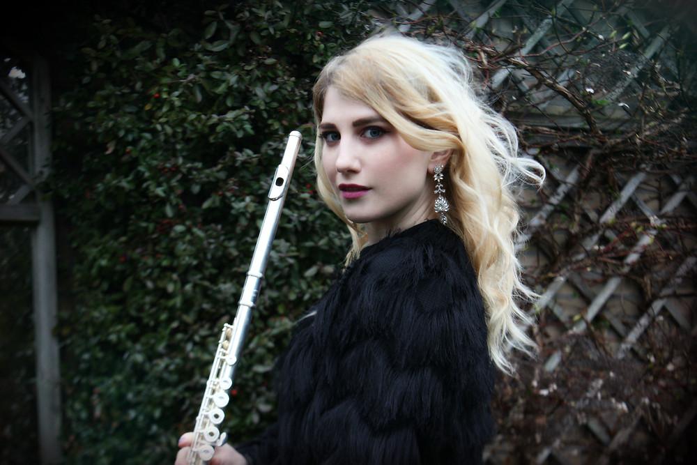 Eszter Anna Baumann flutist Vivaldi Metal Project