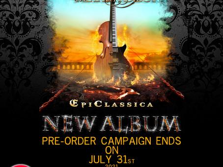 Vivaldi Metal Project 2nd Studio Album Campaign Ends on July 31st 2021