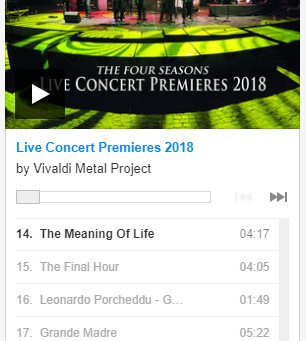 'Live Concert Premieres 2018' Exclusive Streaming on Metal.it!