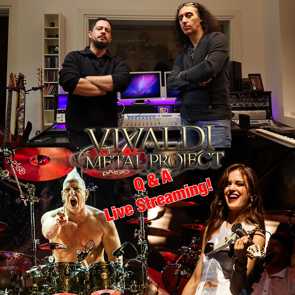 Vivaldi Metal Project Live Streaming June 21st 2021 Mistheria Mike Terrana Abigail Stahlschmidt Ivan Moni Bidin Artesonika Recording Studio